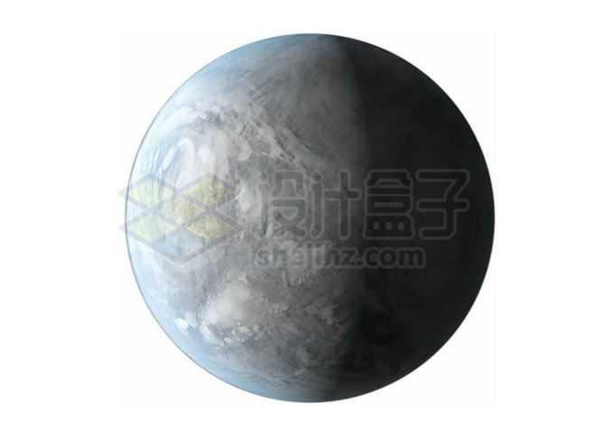 一颗冰冻星球超级地球系外行星png免抠高清图片素材