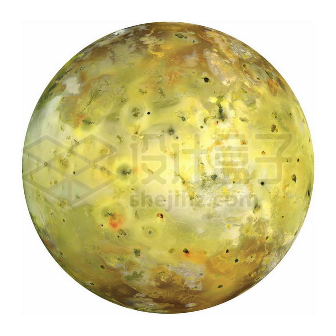 太阳系第四大卫星木星卫星木卫一伊奥png免抠高清图片素材 科学地理-第1张