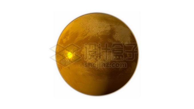 金黄色的土星卫星土卫六泰坦星png免抠高清图片素材 科学地理-第1张