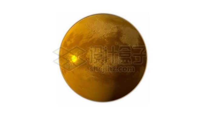 金黄色的土星卫星土卫六泰坦星png免抠高清图片素材