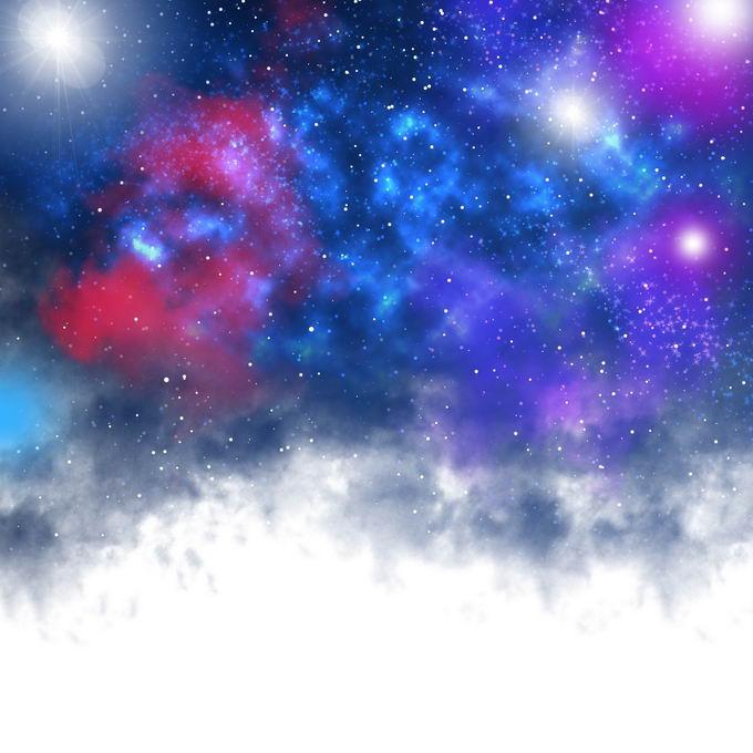 宇宙空间中五颜六色的星空星云效果3247450图片免抠素材免费下载 效果元素-第1张