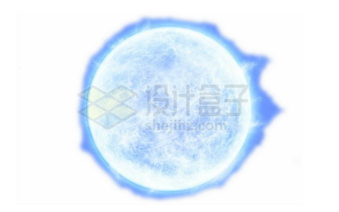 一颗发出白光的恒星蓝超巨星png免抠高清图片素材 科学地理-第1张