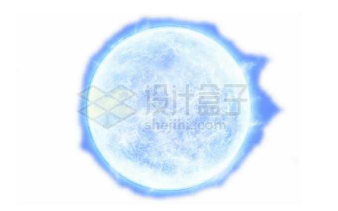 一颗发出白光的恒星蓝超巨星png免抠高清图片素材