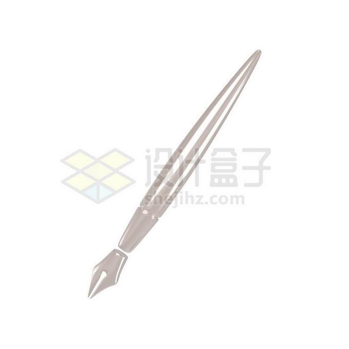 3D立体风格金属色钢笔模型7208141免抠图片素材 教育文化-第1张