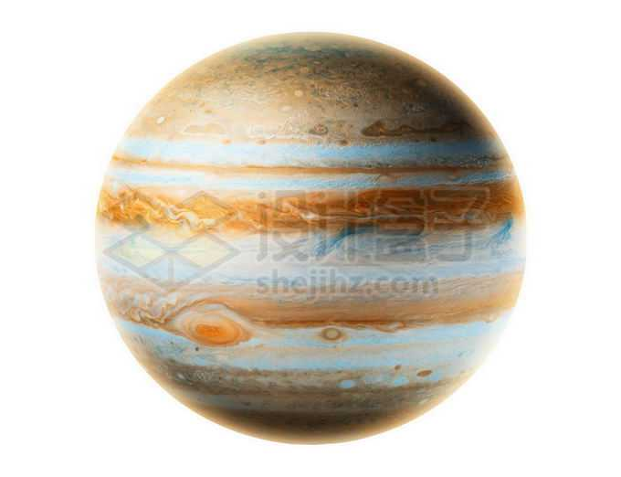 彩色太阳系最大行星木星表面细节大红斑png免抠高清图片素材