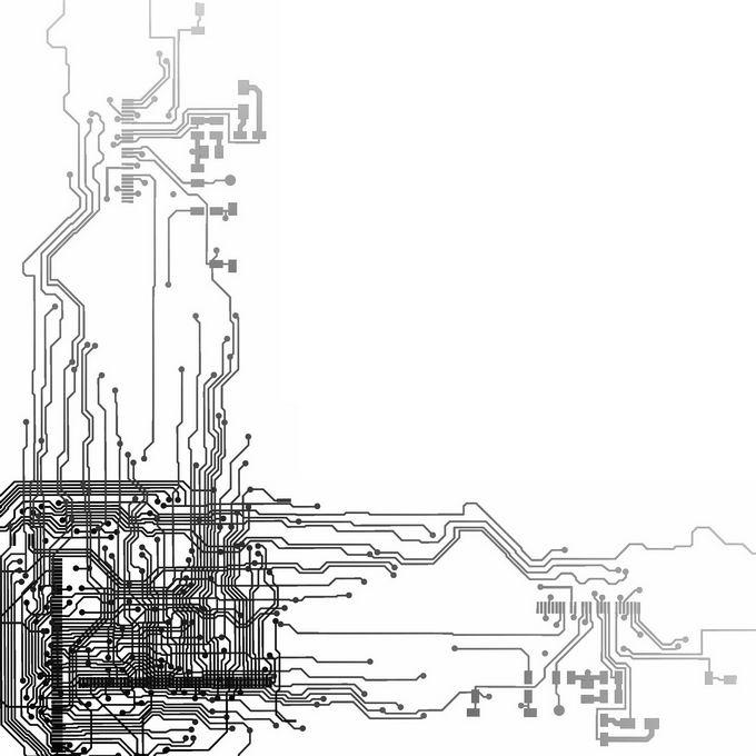 黑色线条组成的集成电路图案9230370图片免抠素材免费下载 线条形状-第1张