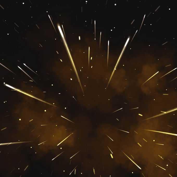 夜晚星空中的黄色流星雨星轨流星效果快速飞行的光效果2710786图片免抠素材免费下载