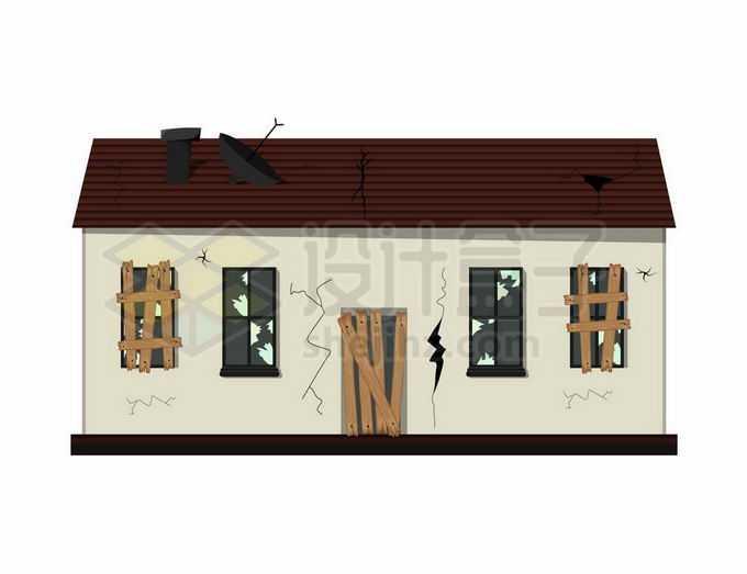 破败裂开的房子房屋建筑物5246100矢量图片免抠素材免费下载