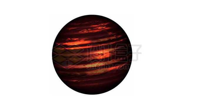 一颗暗红色的褐矮星次恒星png免抠高清图片素材