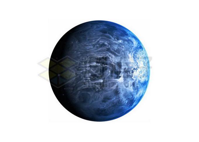 表面刮着超级飓风的系外行星想象图png免抠高清图片素材 科学地理-第1张