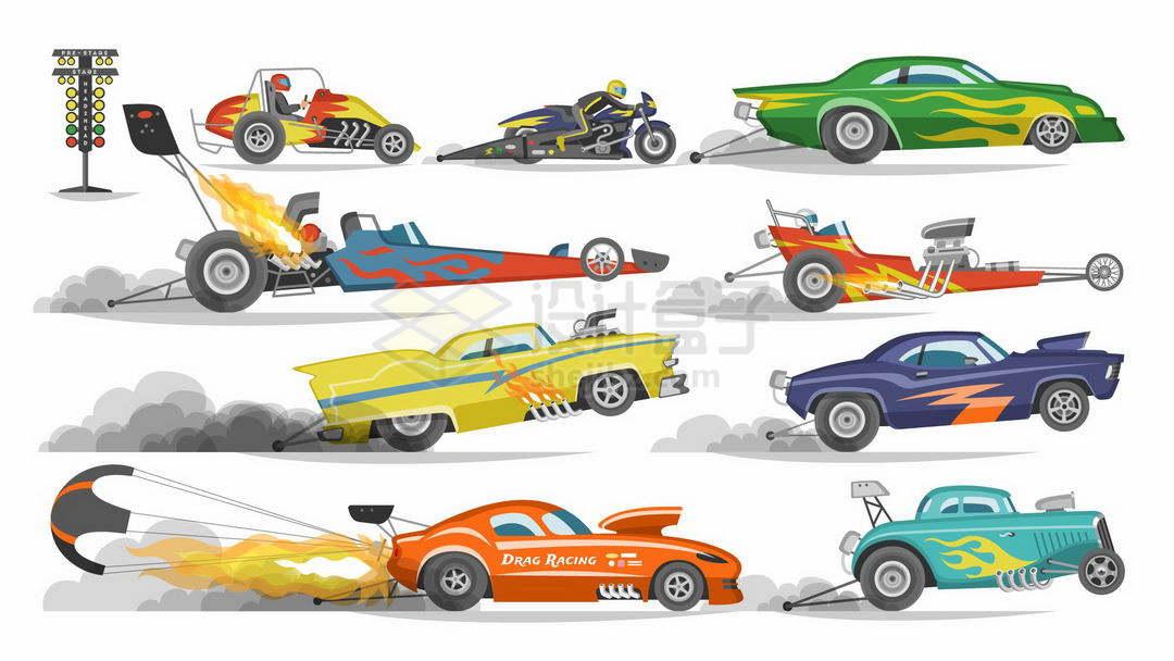 各种直线加速高速赛车世界上最快的汽车1132838矢量图片免抠素材