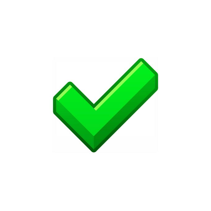 扁平化风格绿色对号符号2327217图片免抠素材免费下载 按钮元素-第1张
