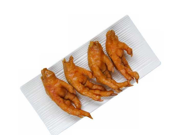 一盘四个卤鸡爪美味美食png免抠图片素材
