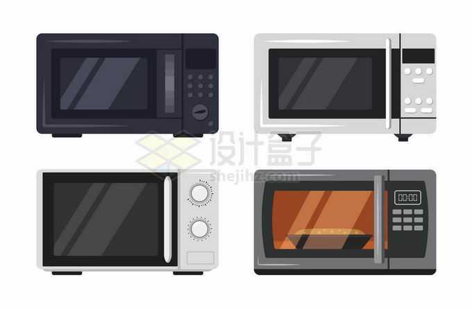 4款微波炉烤箱厨房家用电器8625724矢量图片免抠素材
