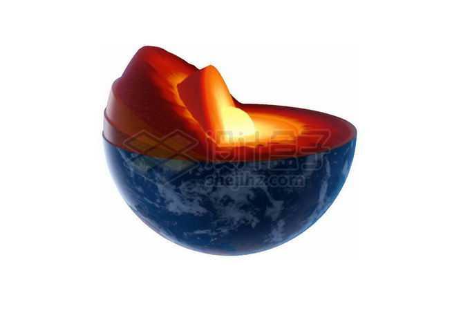切开的地球内部结构地壳地幔地核7781723png免抠图片素材