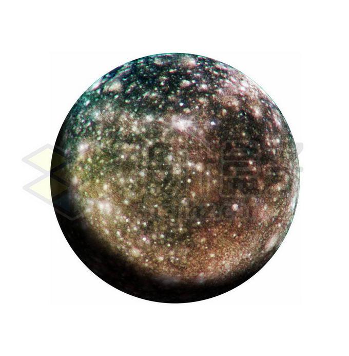 木星卫星木卫四png免抠高清图片素材 科学地理-第1张
