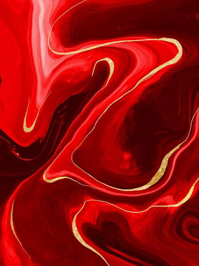 绚丽的金粉条纹装饰的火红色大理石水磨石纹理背景1775464免抠图片素材 材质纹理贴图-第1张