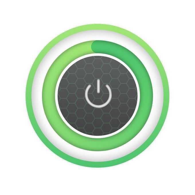 科技风格绿色同心圆开关按钮7213413免抠图片素材免费下载