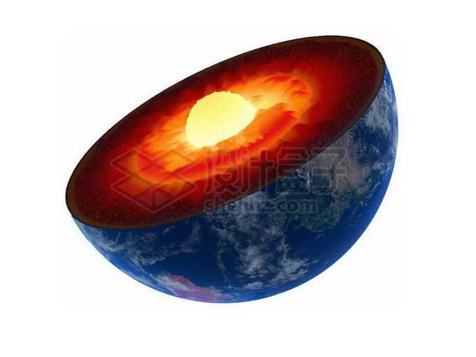 切开的地球露出壮观的地核物质8798293png免抠图片素材