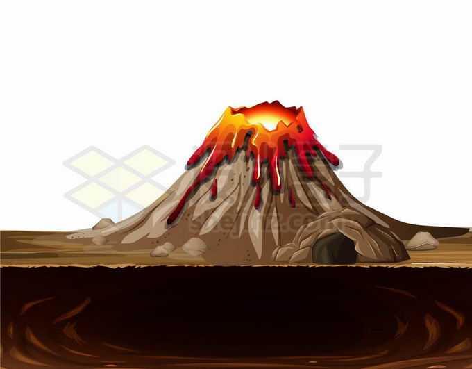 卡通熔融状态的火山口5747104矢量图片免抠素材免费下载