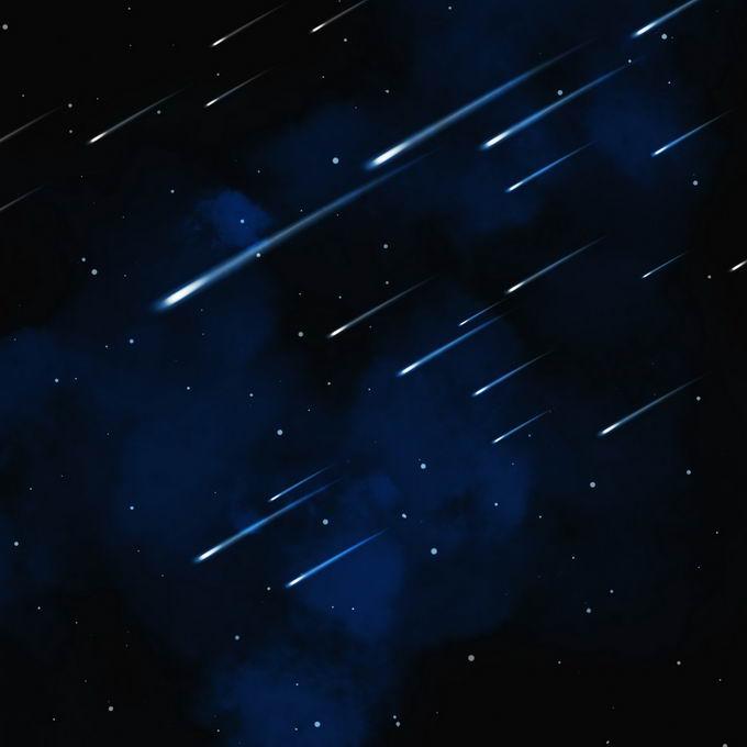 蓝色夜晚星空中的白色星轨流星效果快速飞行的光效果7462538图片免抠素材免费下载 效果元素-第1张