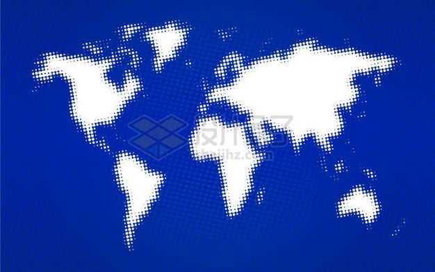 模糊的白色点状世界地图2377018矢量图片免抠素材