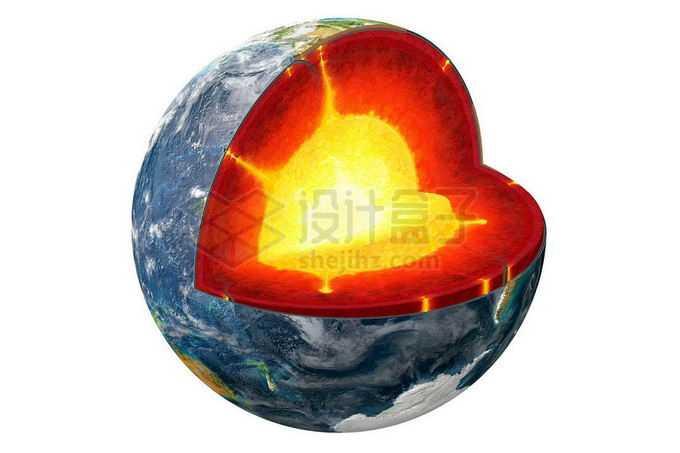 切开的地球内部结构地壳地幔地核地幔热柱4594736png免抠图片素材