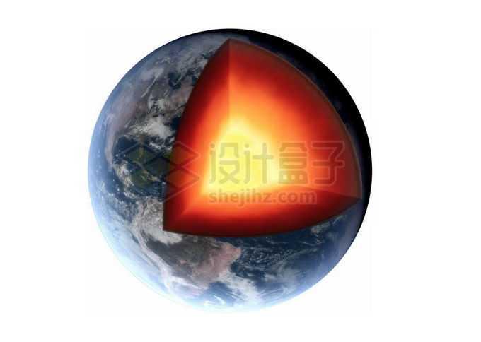 挖出一块的地球内部结构地壳地幔地核7980946png免抠图片素材