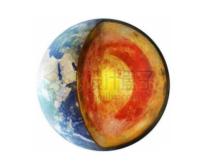 切开的地球和地壳地幔地核2410977png免抠图片素材