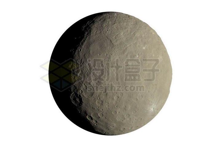 太阳系最大小行星谷神星png免抠高清图片素材 科学地理-第1张