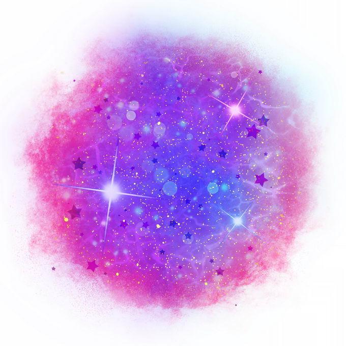 绚丽的紫红色星空星云效果装饰8889156矢量图片免抠素材 效果元素-第1张