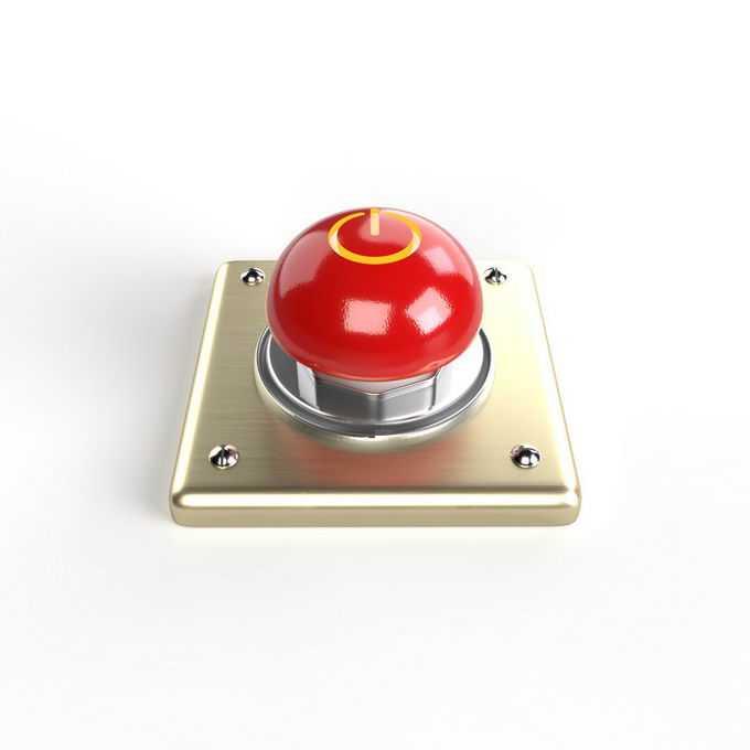 金属底座上的红色紧急按钮8731943免抠图片素材免费下载