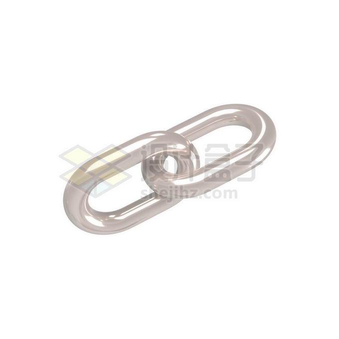 3D立体风格金属光泽链条铁链6691583免抠图片素材 工业农业-第1张