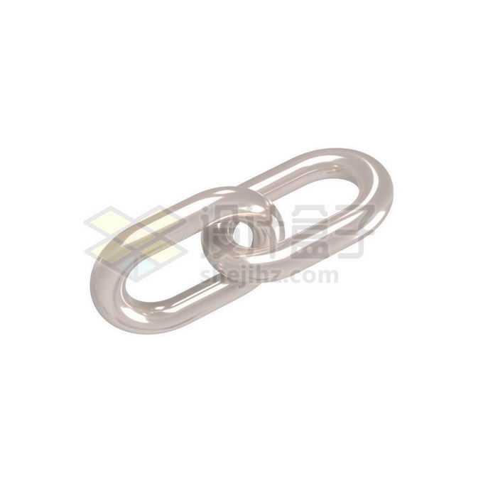 3D立体风格金属光泽链条铁链6691583免抠图片素材