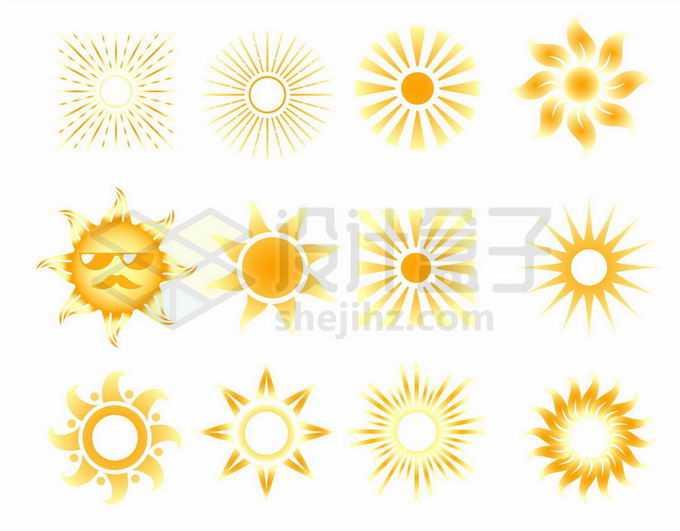 12款黄色太阳图案6450750矢量图片免抠素材