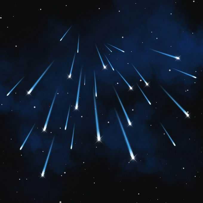 夜晚星空中的蓝色星轨流星效果快速飞行的光效果3614509图片免抠素材免费下载