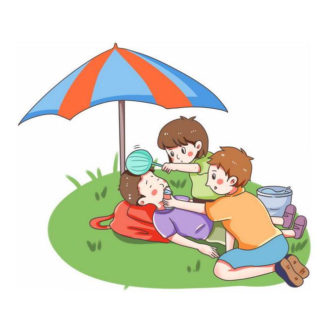 夏天中暑的急救方法插画7944859图片免抠素材免费下载 健康医疗-第1张