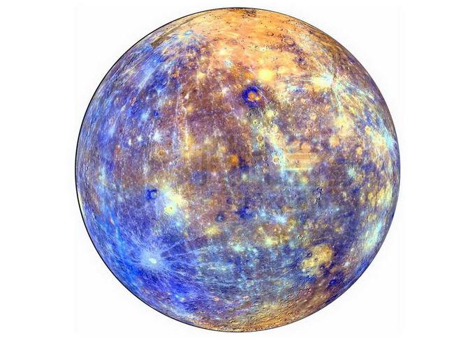 伪彩色水星png免抠高清图片素材 科学地理-第1张