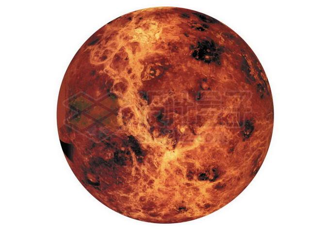 太阳系大行星类地行星金星表面细节图png免抠高清图片素材 科学地理-第1张