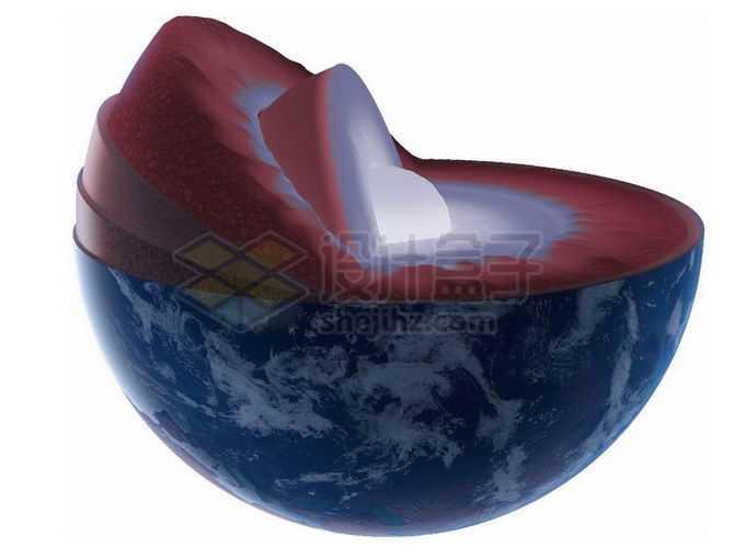 切开的地球露出地球内部结构地壳地幔地核3272653png免抠图片素材