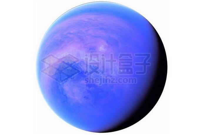 一颗拥有紫色大气层的超级地球系外行星png免抠高清图片素材