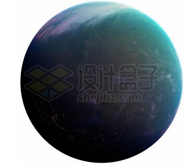 一颗分布着大陆和海洋的宜居星球超级地球系外行星png免抠高清图片素材 科学地理-第1张
