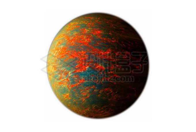 太古宙早期地球或充满岩浆海洋的岩石星球系外行星png免抠高清图片素材