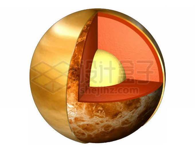 太阳系大行星金星内部结构png免抠高清图片素材