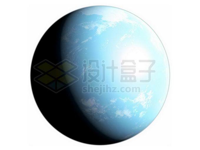 一颗蓝色的海洋星球超级地球系外行星png免抠高清图片素材 科学地理-第1张
