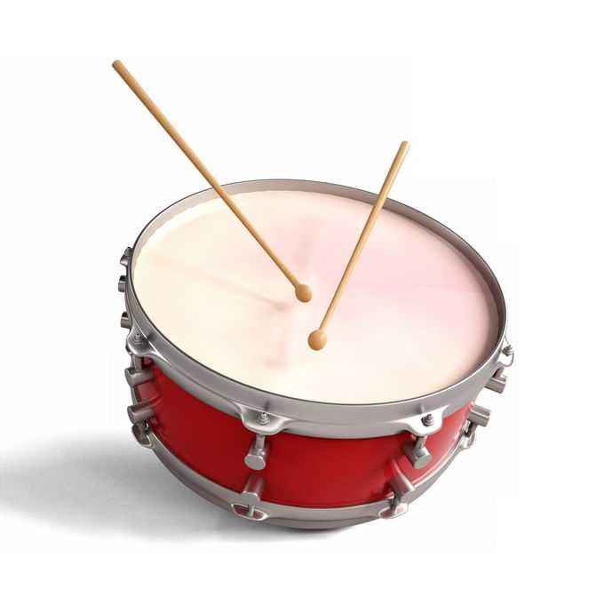 一款红色的军鼓打击乐器西洋乐器7663639图片免抠素材免费下载
