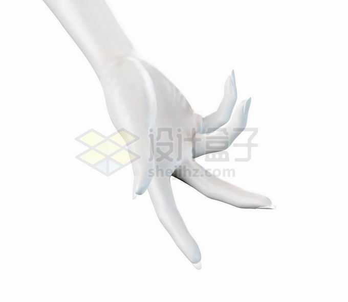 优雅的3D白色手势模型1200734矢量图片免抠素材