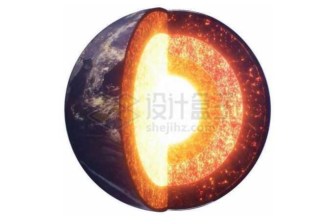 切开露出地球内部物质地壳地幔地核7173288png免抠图片素材