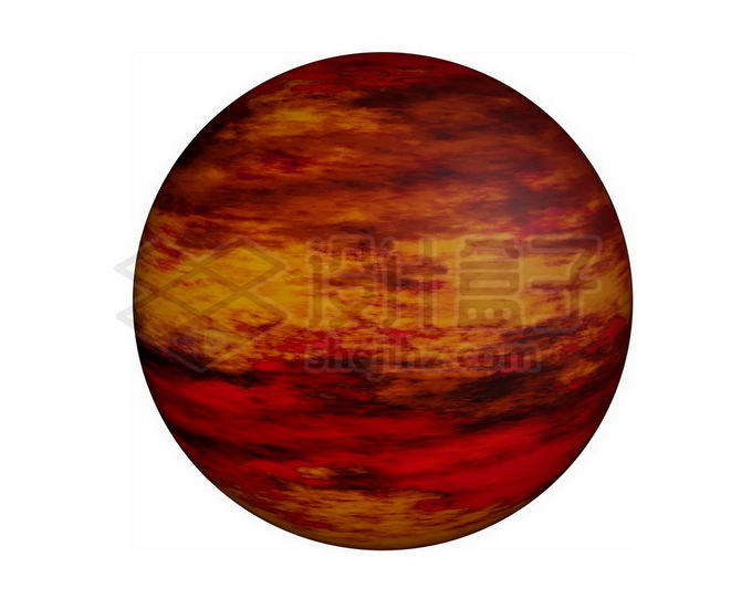 红色星球褐矮星png免抠高清图片素材 科学地理-第1张