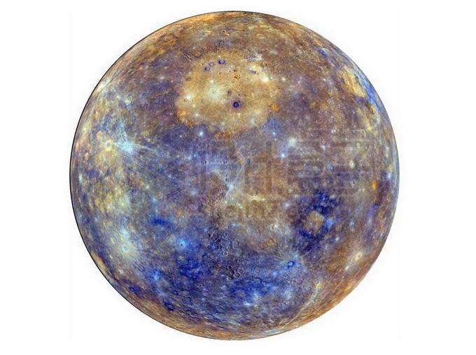 伪彩色太阳系大行星水星png免抠高清图片素材 科学地理-第1张